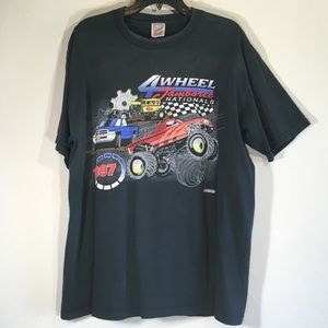 Vintage Monster Truck T shirt Graphic Print Tee